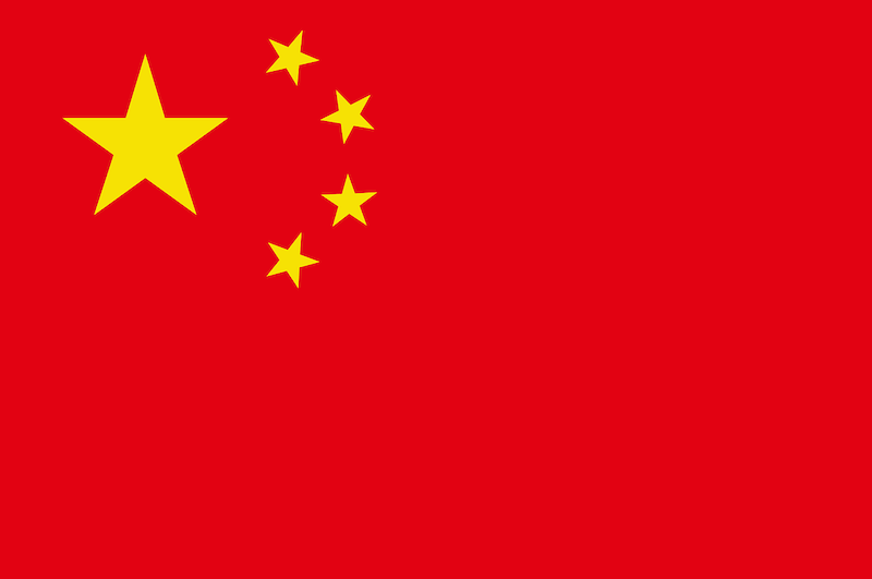 Bandera China color rojo